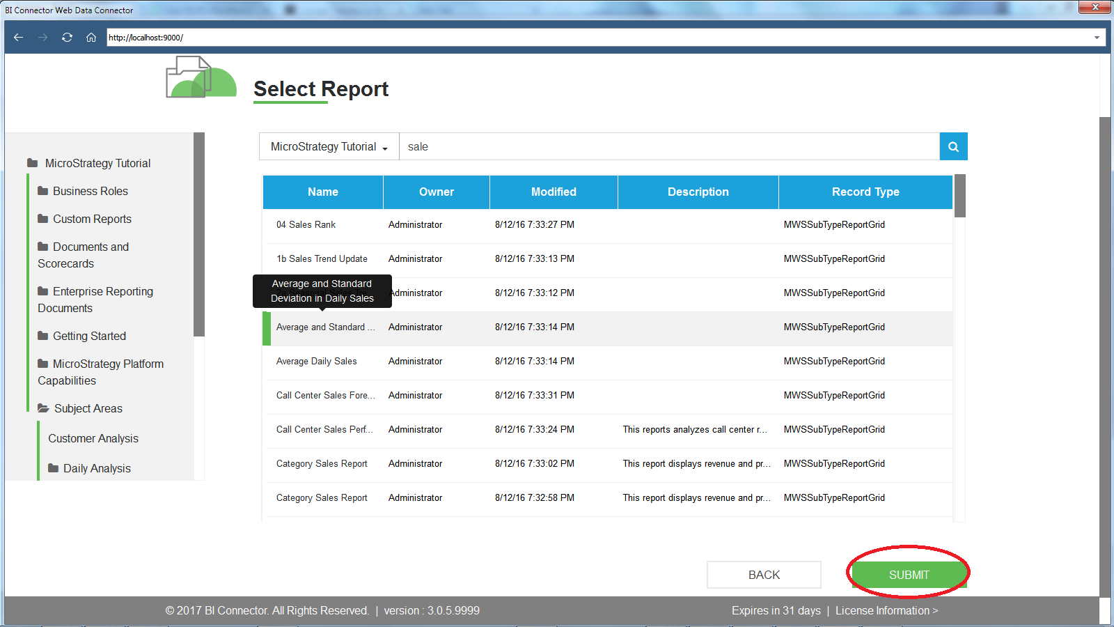 Connect Tableau Desktop to MicroStrategy Reports - BI