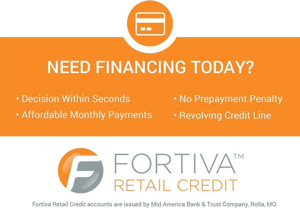 FORTIVA FINANCING FOR FURNITURE & MATTRESS PURCHASES*