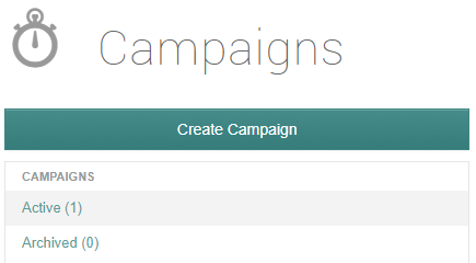 create campaign button