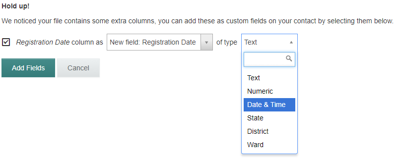 adding new custom fields