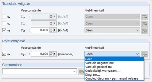 Lijnvrijgave niet lineairiteiten rotatie in rekensoftware RFEM