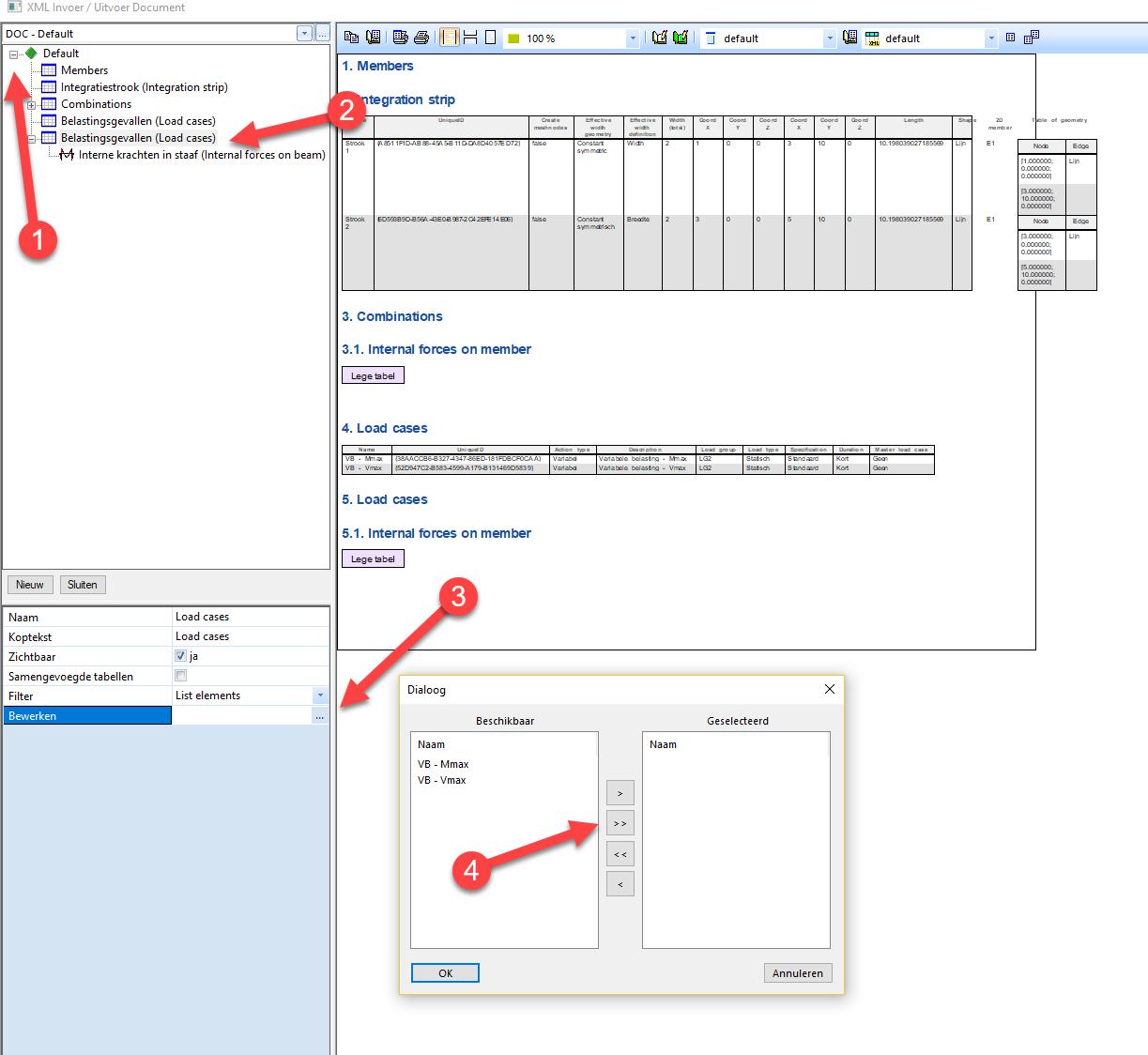 XML invoer vanuit SCIA Engineer naar IDEA BEAM