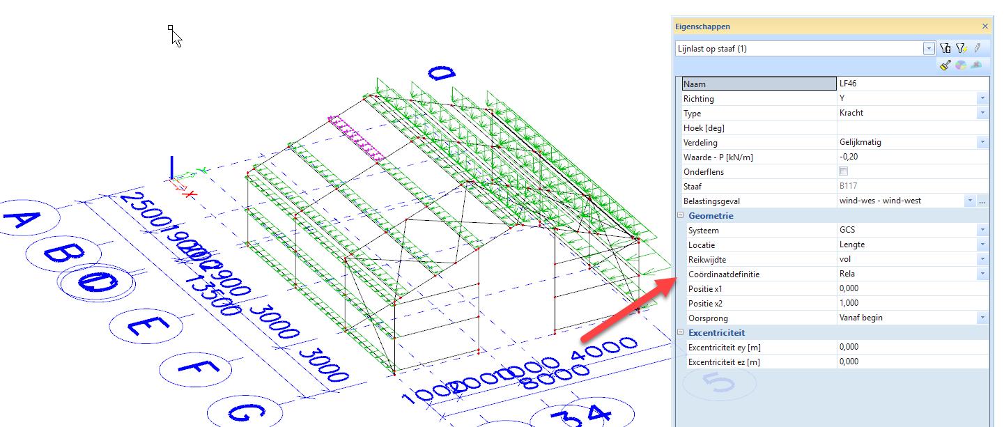 Scia engineer export naar RFEM relatieve posities coordinaatdefinities