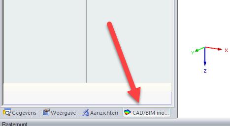Selecteer CAD/BIM model bij IFC model import RFEM