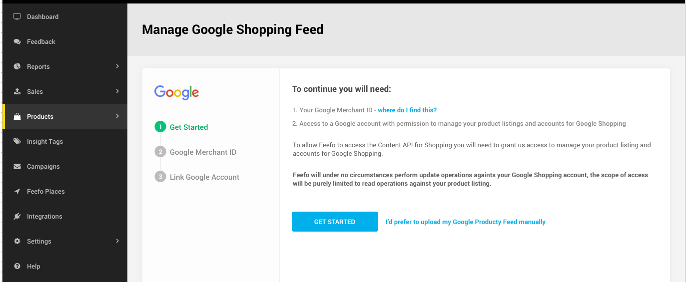 Step 2: Enter Your Google Merchant ID And Click U0027Nextu0027.