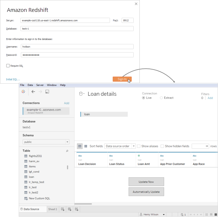 Connect to Beacon Insights in Tableau : Support Center