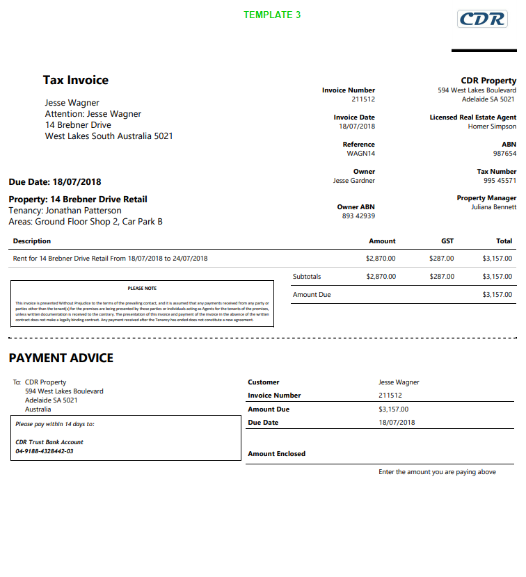 Invoice Templates : Re-Leased Software