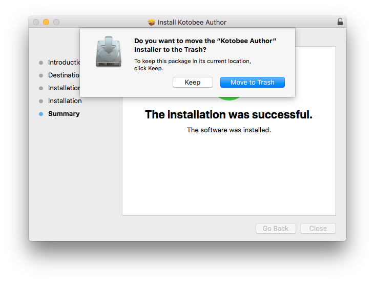 Keep or discard the installer after you're done