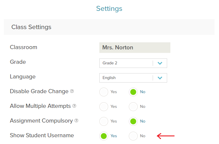Change Student Username or Password (Only for Premium
