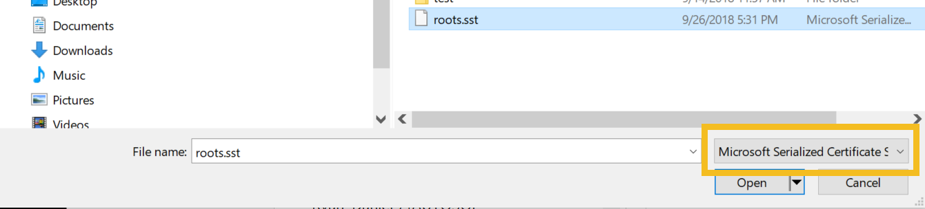 Installing Root Certificates : FieldComm Group Support Portal
