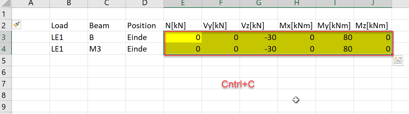 Belastingen importeren vanuit MS Excel naar IDEA Connection