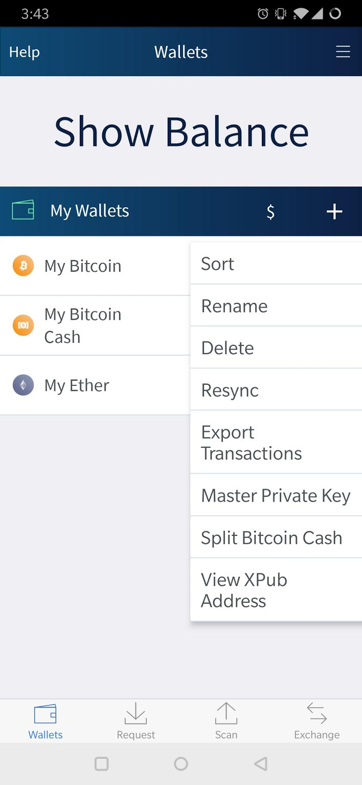 How do I view the Private Seed of my Bitcoin Wallet or for my other