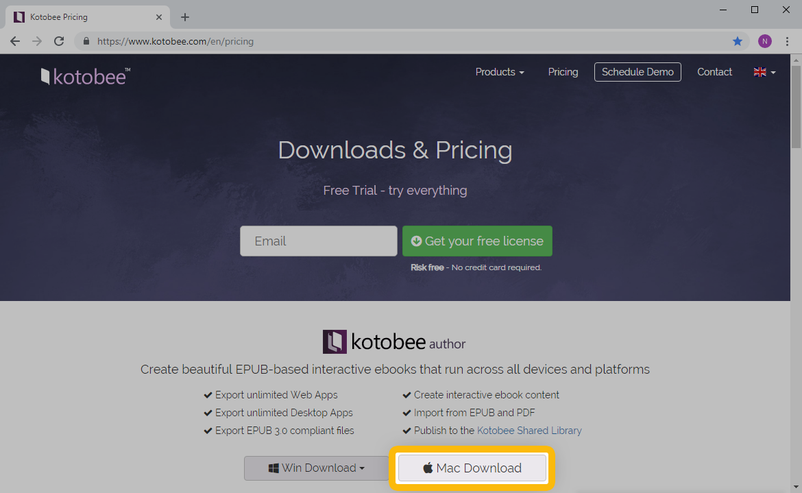 Download and Install Kotobee Author for Mac OS : Kotobee