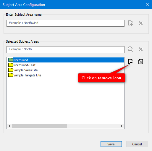 How to configure Subject Area list ? : Support Portal