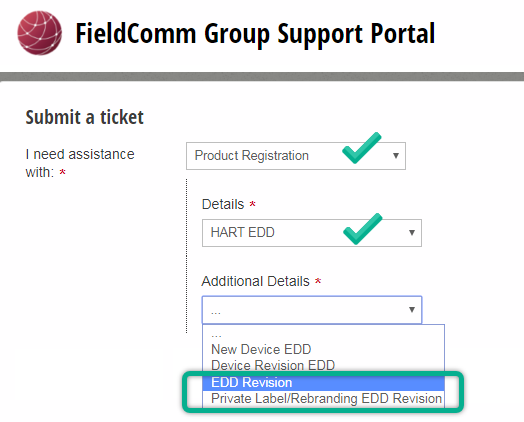 HART EDD Registration : FieldComm Group Support Portal