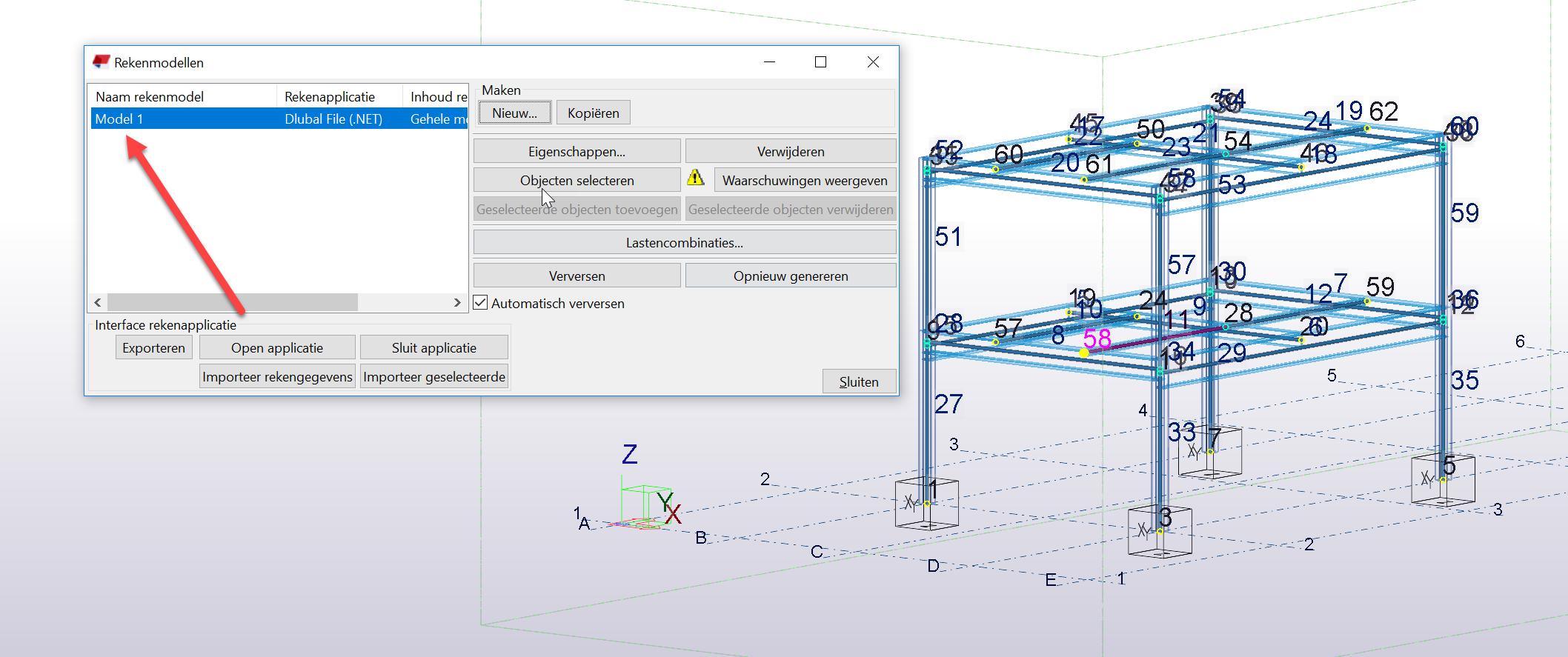 Rekenmodel genereren in Tekla Structures voor import in RFEM