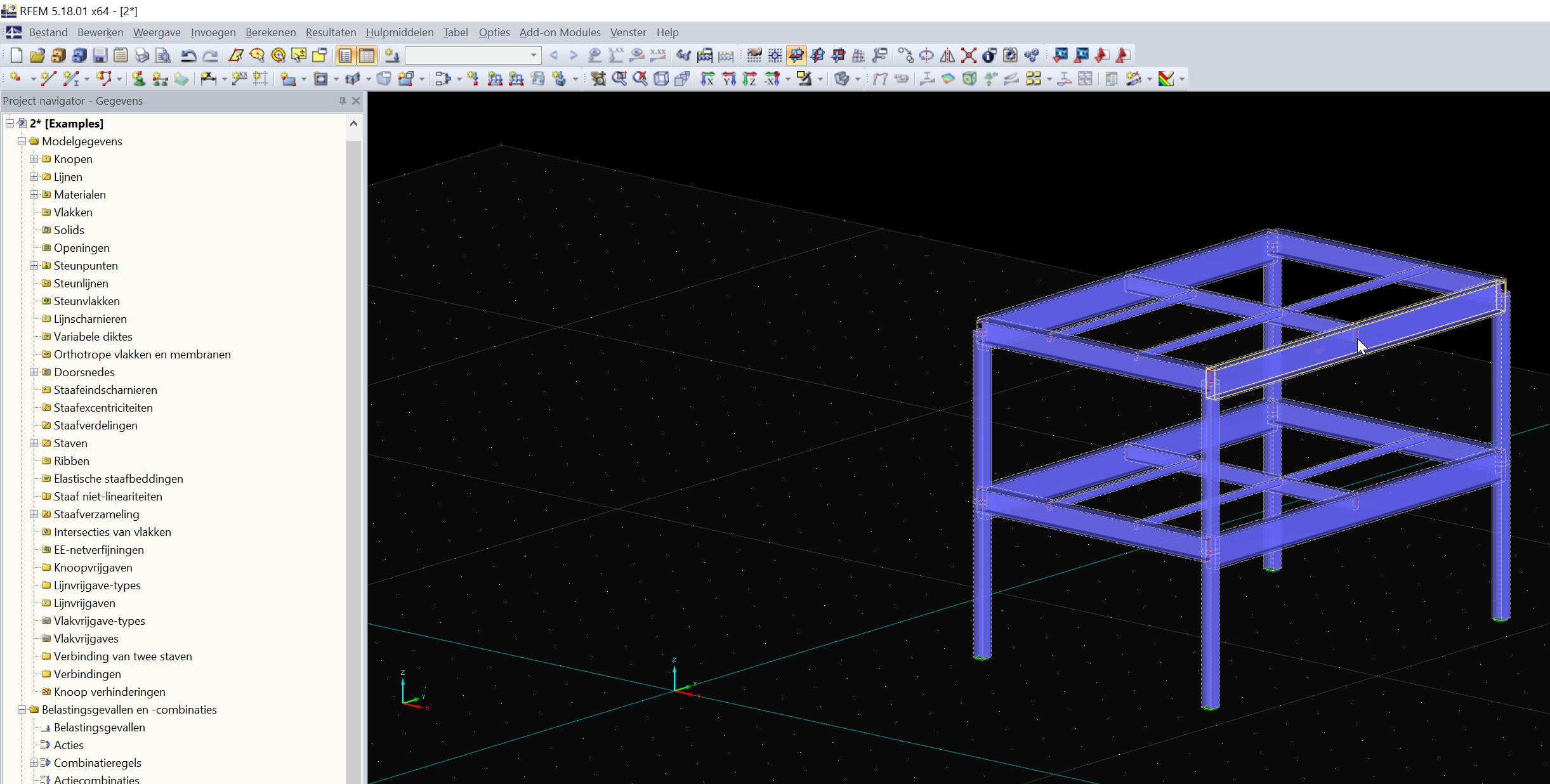 Importeren van Tekla structures model in RFEm via BIM link