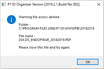 How do I fix 'Access Denied' when viewing EOY FBI or P46(car