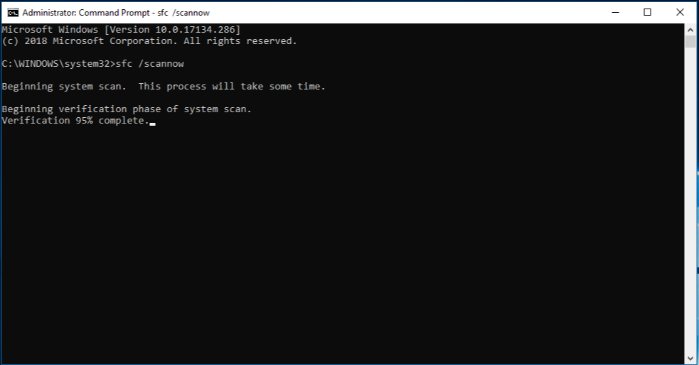 Command Prompt with administrator rights - sfc /scannow