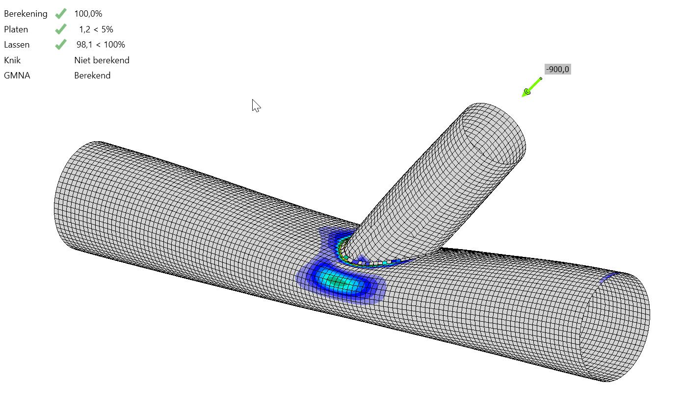 Geometrische en Materiaal Niet-lineaire berekening