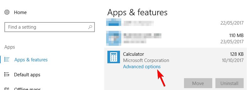Calculator won't open in Windows 10