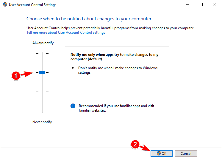 Windows 10 Calculator closes