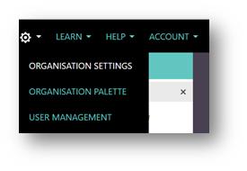 Figure 1 - Accessing Organisation Settings
