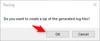 Create-a-zip-of-generated-log-files