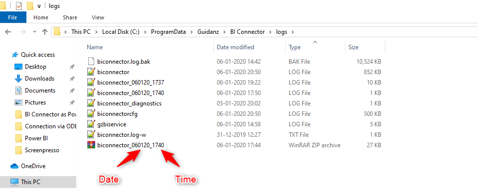 Zipped-log-files-with-date-time-stamps
