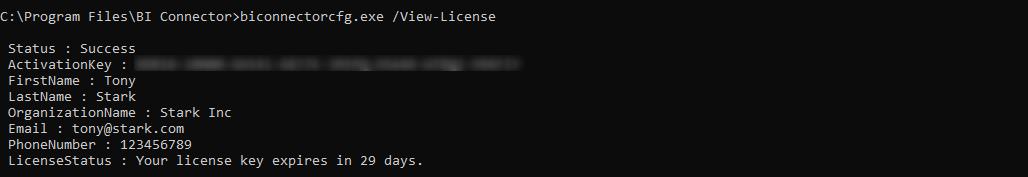 View License Info