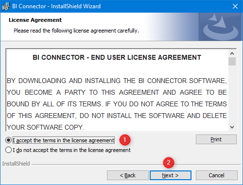 BI Connector License Agreement