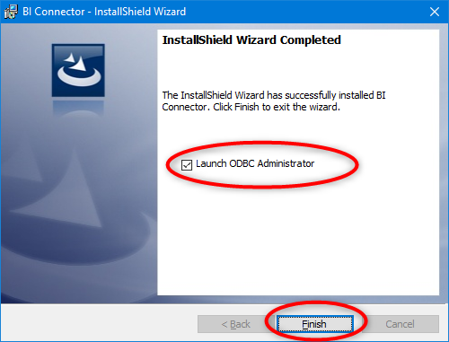 Launch ODBC Administrator