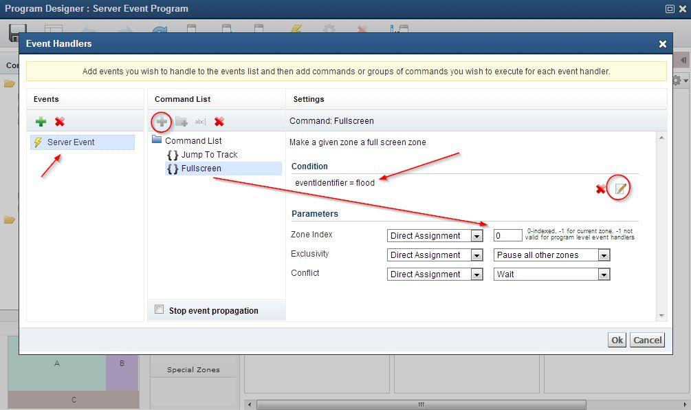 Building Server Events within a Program : Customer Support Desk