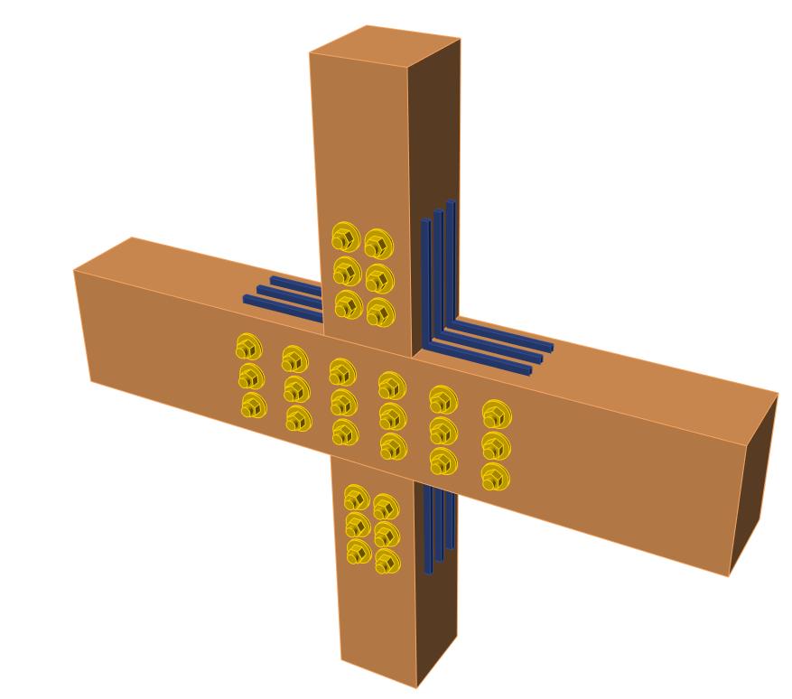 Staal-houtverbindingen in IDEA CONNECTION versie 20
