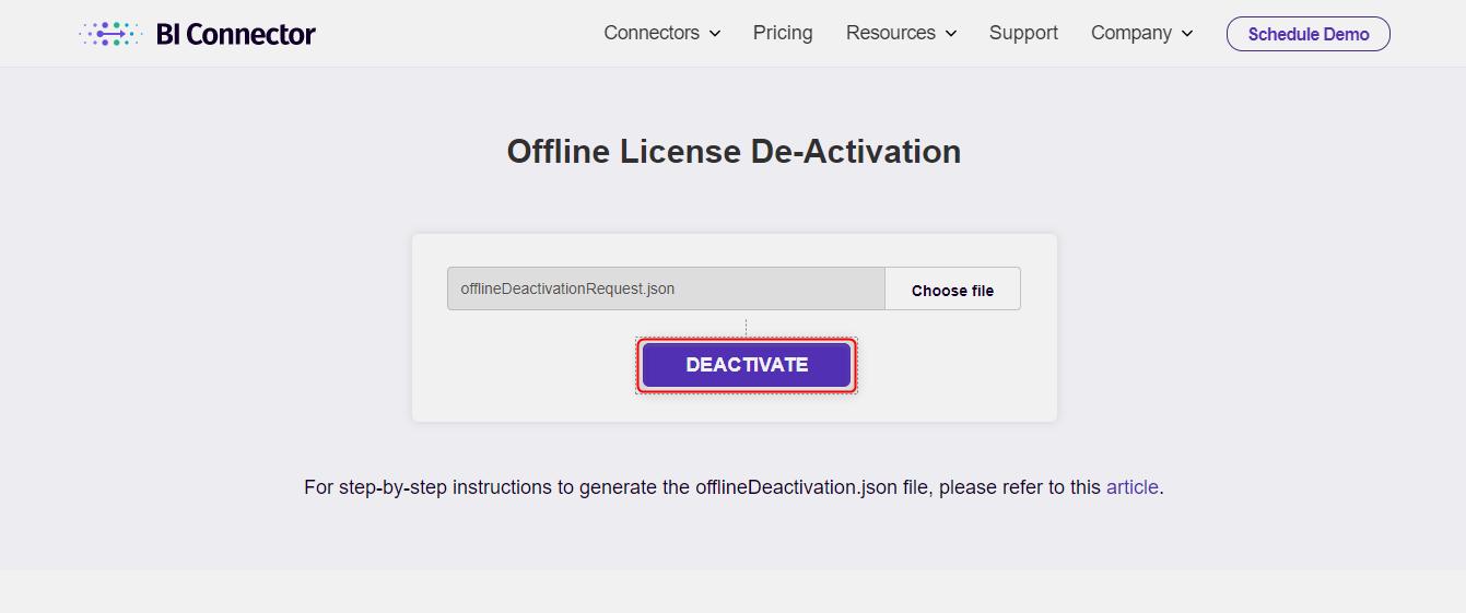 Click deactivate
