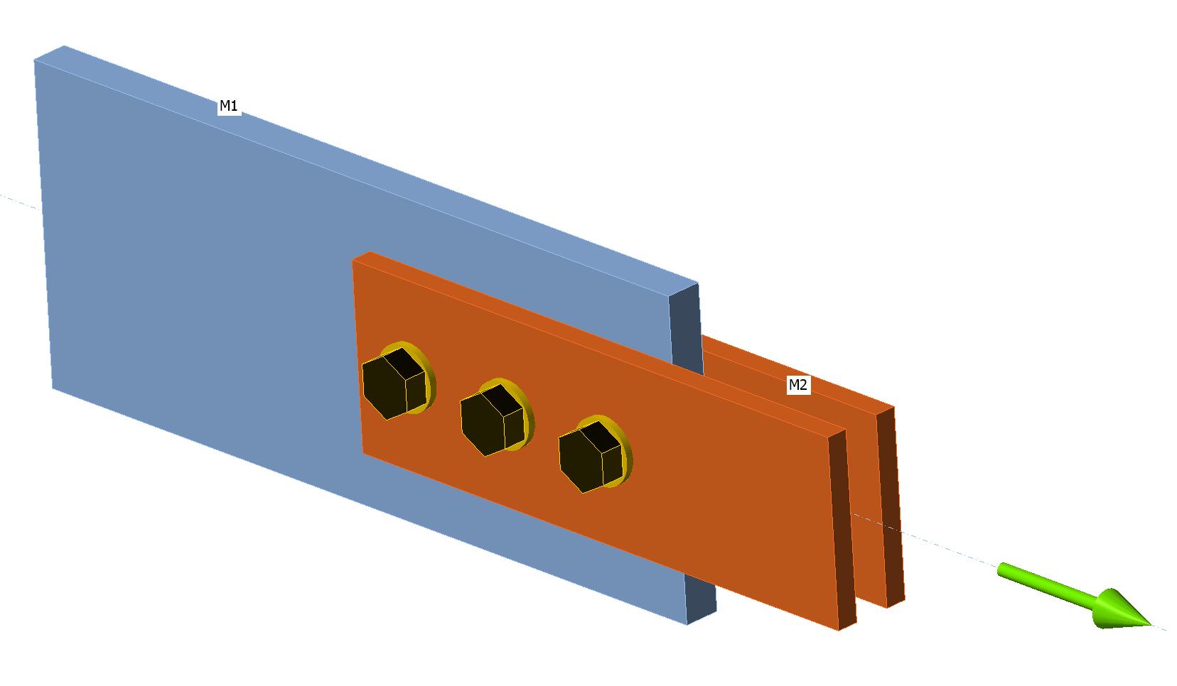 Voorbeeld stuikweerstand bouten met behulp van randafstanden in IDEA CONNECTION in v 20.1