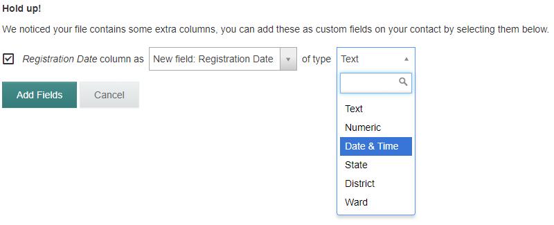 adding new custom fields
