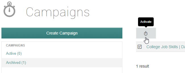 reactivating a campaign