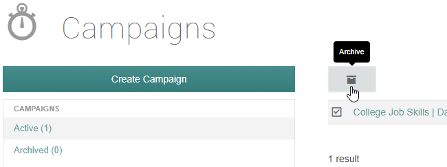 archiving campaigns