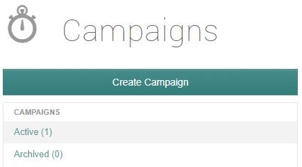 create campaign button