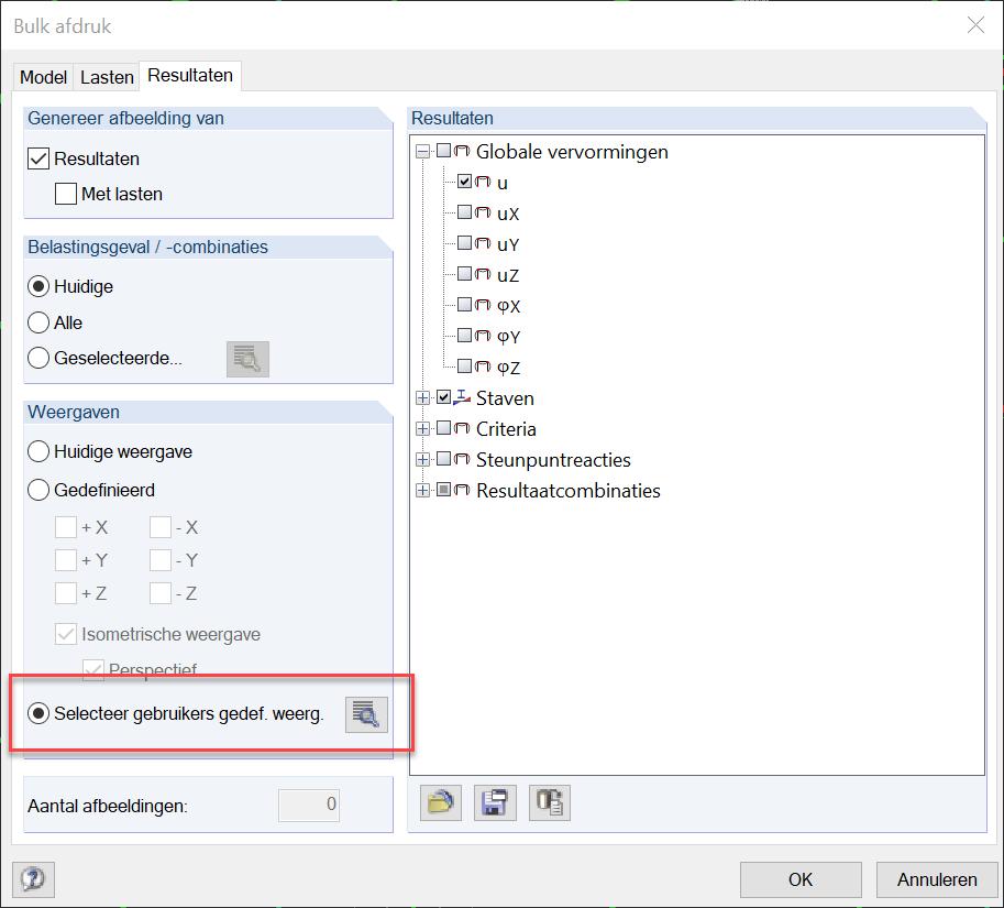 Selecteren gebruikers gedefinieerde weergave