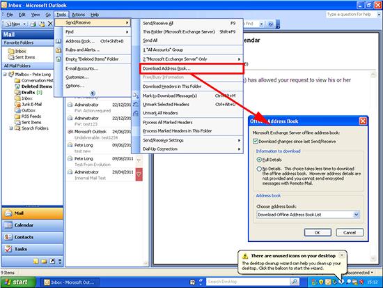 Outlook 2003 Download Address Book