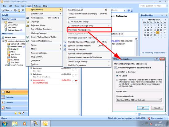 Outlook 2007 Download Address Book