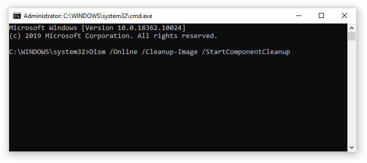 how to run dism command