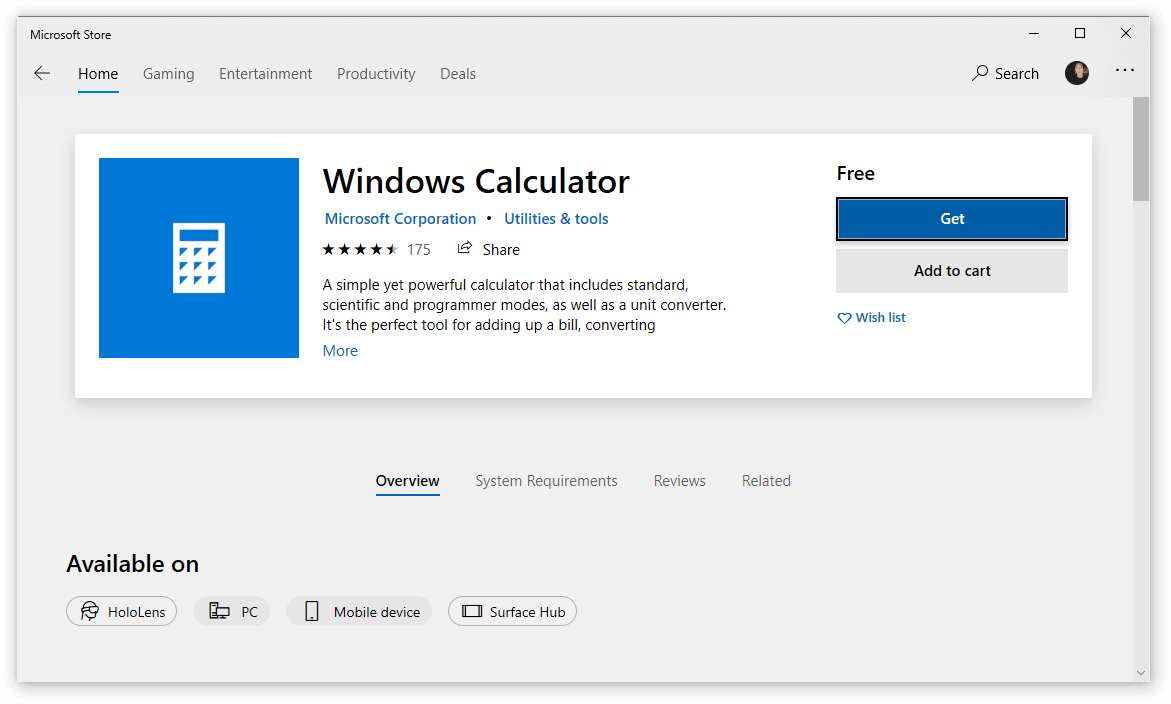 How to reinstall the calculator app on windows