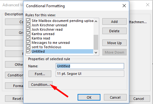 Outlook Condition