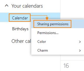 Sharing permissions