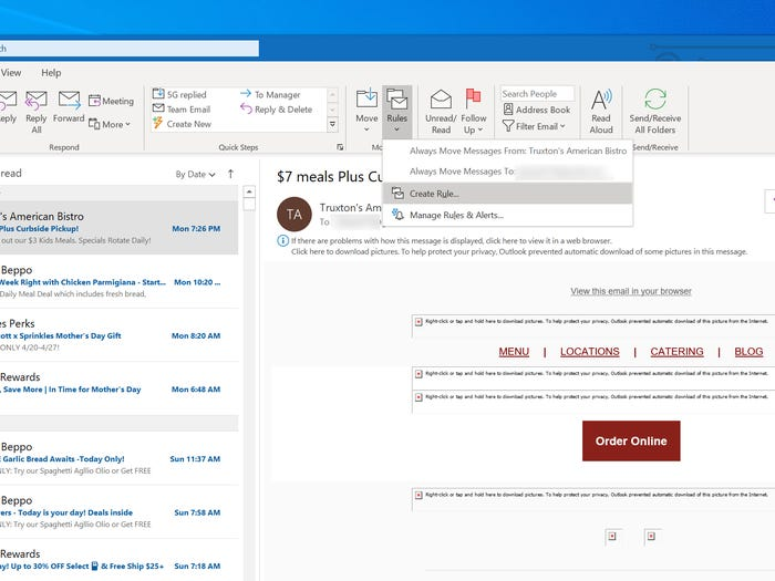 How to forward emails from Outlook 1