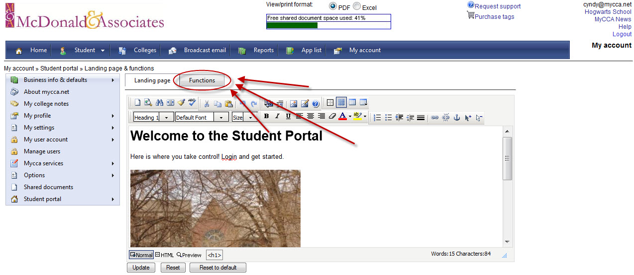 Creating a Standard Password for Student Portal Login