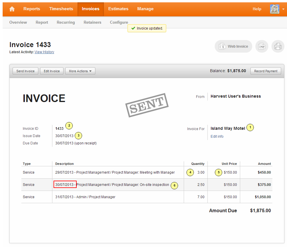 Creating Invoices In Harvest For A Successful Export To Myob Innovent Support
